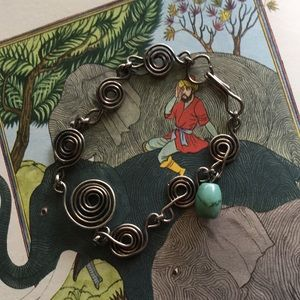 Jewelry - Artisan Turquoise Wire Wrapped Bracelet